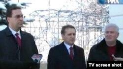 Marian Lupu (PD), Sergei Naryshkin și Vladimir Voronin (PCRM)