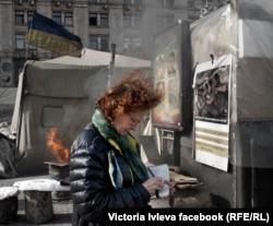 Вікторія Івлєва на майдані Незалежності