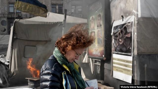 Виктория Ивлева на Майдане