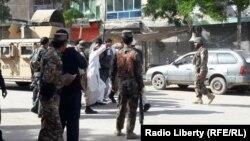 Сотрудники афганских сил безопасности. 21 мая 2017 года.