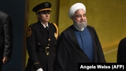 U.S. -- Hassan Rouhani, President of Iran, arrives to address the 72nd UN General Assembly on September 20, 2017, at the United Nations in New York