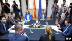 Лидерска средба на Зоран Заев, Али Ахмети, Христијан Мицкоски и Билал Касами
