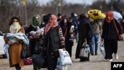 Փախստականները թուրք-հունական սահմանին, մարտ, 2020թ.