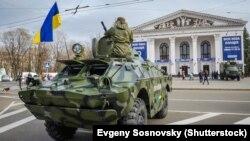 Ілюстраційне фото. Демонстрація українських поліцейських бронемашин у Маріуполі. Листопад 2015 року