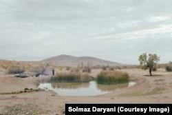 A pond near Lake Urmia photographed by Solmaz Daryani in 2015