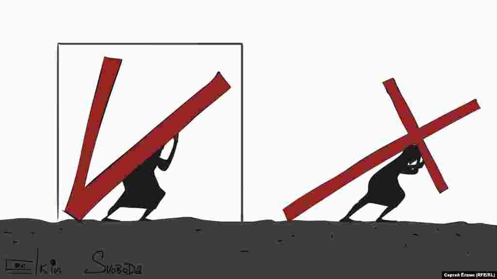 Результати виборів президента Росії очима російського художника Сергія Йолкіна