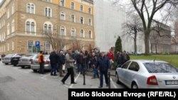 Protest radnika Hidrogradnje