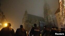 VIENNA – Austrian Police Blocks a Square