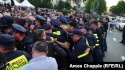 Протесты в Грузии.