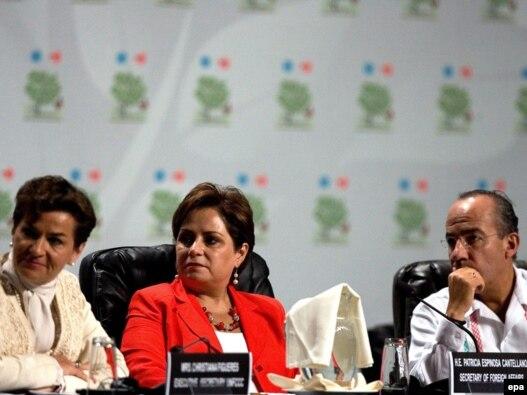مقامهای سازمان ملل و مکزیک در نشست آبوهوایی  کانکون، ۲۹ نوامبر ۲۰۱۰