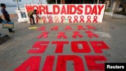 СПИДге каршы күрөш күнүнүн Индияда белгилениши. Колката шаары, Индия. 30-ноябрь, 2017-жыл.