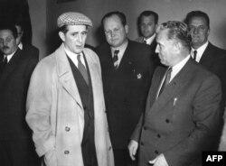 Cu președintele Josip Broz Tito (dr.) la Zagreb, în noiembrie 1952