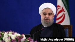 Iranian president Hassan Rouhani, in his first press conference after victory in May 19 Election, on Monday May 22, 2017.