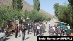 The protest was the latest in a series of demonstrations against Chinese companies operating in Kyrgyzstan.