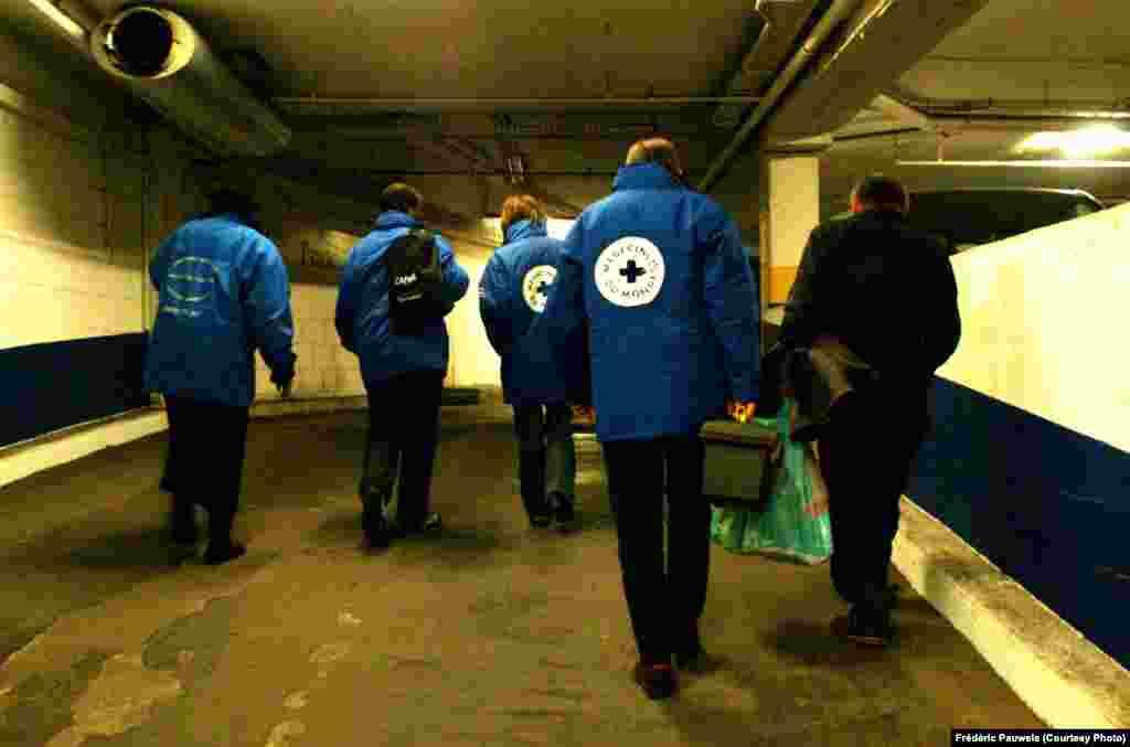 Bruxelles în miez de noapte și voluntarii de la Samu Social (fotografii: Frédéric Pauwels)