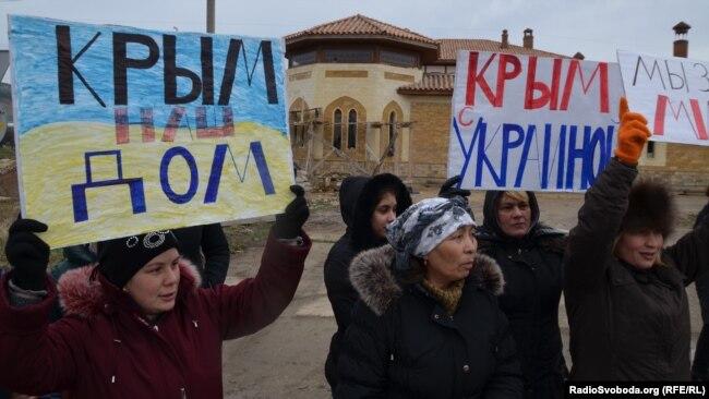 Акция крымских женщин против оккупации, Симферополь, 8 марта 2014 года