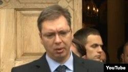 Serbian Deputy Prime Minister Aleksandar Vucic