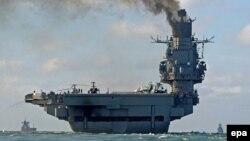 Авианесущий крейсер «Адмирал Кузнецов» в Средиземном море.