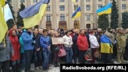 Акція протесту проти підписання так званої «формули Штанмаєра», Харків, 6 жовтня 2019 року