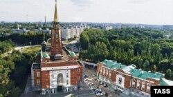 Вид на город Самару в России.