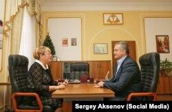 Сергій Аксенов та Ірина Ківіко