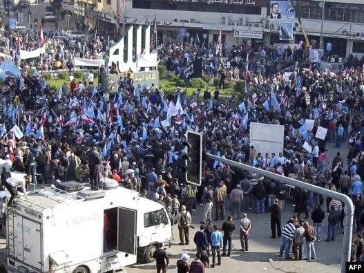 تظاهرات هواداران «جنبش آینده» در شهر طرابلس