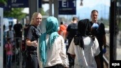 ورود پناهجویان به خاک آلمان