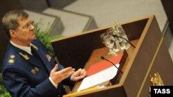 Генеральный прокурор Чайка в Совете Федерации