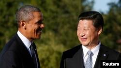 Барак Обама и Си Цзиньпин в гостях у Владимира Путина на саммите G-20 в Санкт-Петербурге. 6 сентября 2013 года.