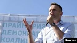 Один из лидеров Демократической коалиции Алексей Навальный