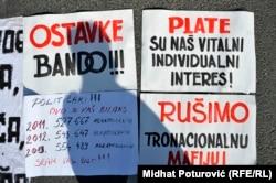 Sa protesta u februaru 2014. foto: Midhat Poturović