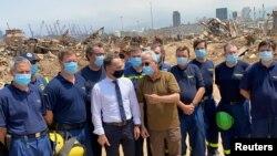 هایکو ماس روز چهارشنبه از محل انفجار در بندر بیروت بازدید کرد.