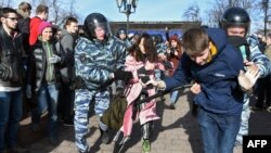 Задержание участиков митинга 26 марта