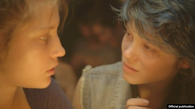 "Adele and her lover Emma in ""Blue Is The Warmest Color,"" winner of the 2013 Palme d'Or at the Cannes Film Festival"