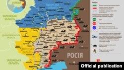 Ситуація в зоні бойових дій на Донбасі, 30 грудня 2019 року. Інфографіка Міністерства оборони України
