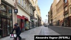 Центральна пішохідна вулиця Праги спорожніла