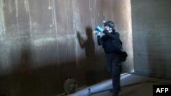 Քիմիական զենքի արգելման կազմակերպության փորձագետը աշխատում է Սիրիայում, հոկտեմբեր, 2013թ․