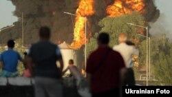 Пожежа на нафтобазі на Київщині, 8 червня 2015 року