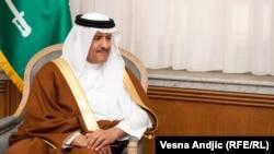 Saudijski princ Sultan bin Abdulaziz el Saud u Beogradu tokom susreta sa premijerom Aleksandrom Vučićem, 5. novembar 2015