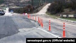 Терміновий ремонт ділянки траси Сімферополь-Бахчисарай-Севастополь, 10 березня 2017 року
