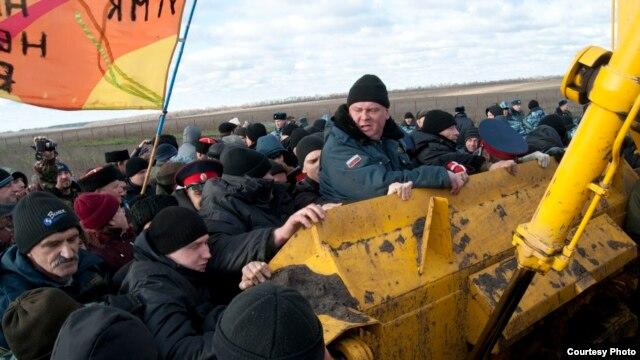 Протесты в ноябре 2013 года против УГМК в Воронежской области