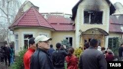 Курманбек Бакиев Бишкектеги үйү, 8-апрель, 2010-жыл
