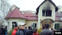 Дом семьи Бакиевых в Бишкеке. 8 апреля 2010 года.