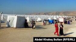 مخيم لنازحين في دهوك