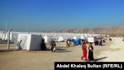 مخيم للنازحين في ضواحر دهوك (الارشيف)