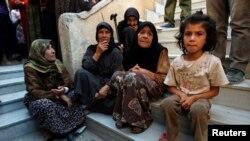 Үй-күйінен айырылған сириялық тұрғындар. Алеппо, қазан, 2014 жыл. (Көрнекі сурет)