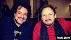 Rus qo'shiqchilari Stas Mixaylov va Filipp Kirkorov Toshkent aeroportida, 2014 yilning 23 dekabri.