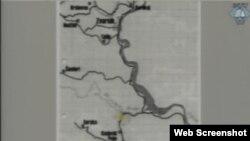 Mapa prikazana tokom suđenja Mladiću, 8. svibanj 2013.