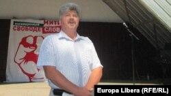 Ukrainian separatist leader Aleksandr Karaman (file photo)