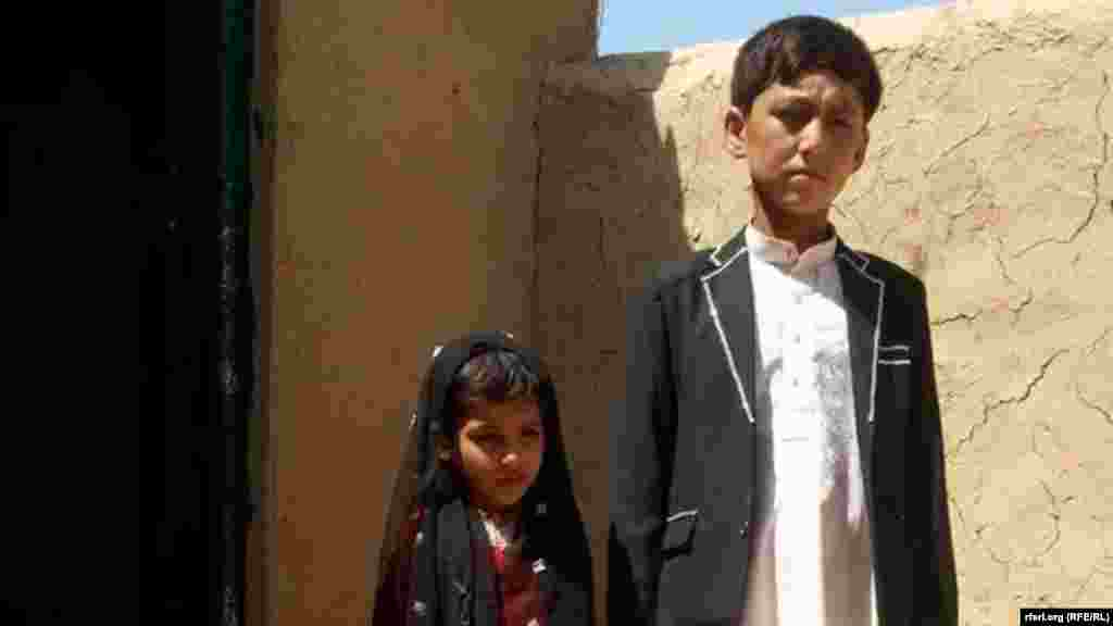 An eight-year-old bride and 12-year-old groom are married in Afghanistan's Balkh Province.